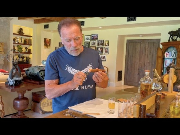 Arnold Schwarzenegger Combines Tequila With A Cigar