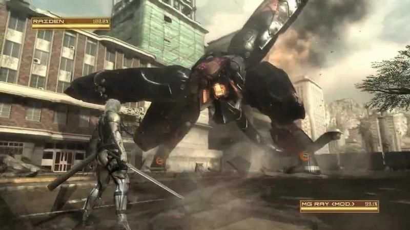 Metal Gear Rising MG RAY Boss Battle S Rank Revengeance Mode
