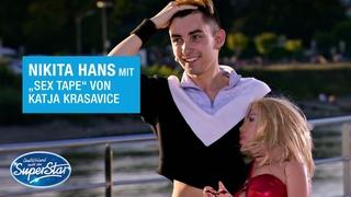 "Nikita Hans mit ""Sex Tape"" von Katja Krasavice | DSDS 2021"