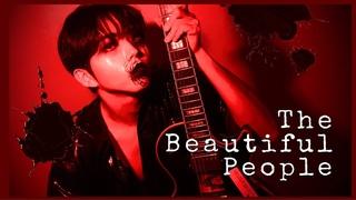 [#혁진]  연습일지 #9 Marilyn Manson 'The Beautiful People' GUITAR COVER 👻할로윈 특집👻