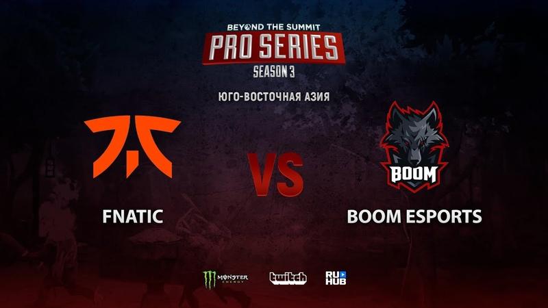 Fnatic vs BOOM Esports BTS Pro Series 3 SEA bo2 game 2 Mortalles