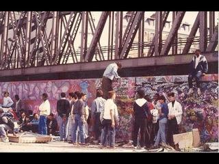 Graffiti Terrain vague La Chapelle Paris Fr 80's90's