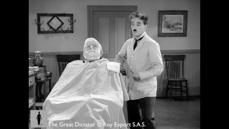 Charlie Chaplin The Great Dictator Barber Shop Scene Brahms' Hungarian Dance No 5