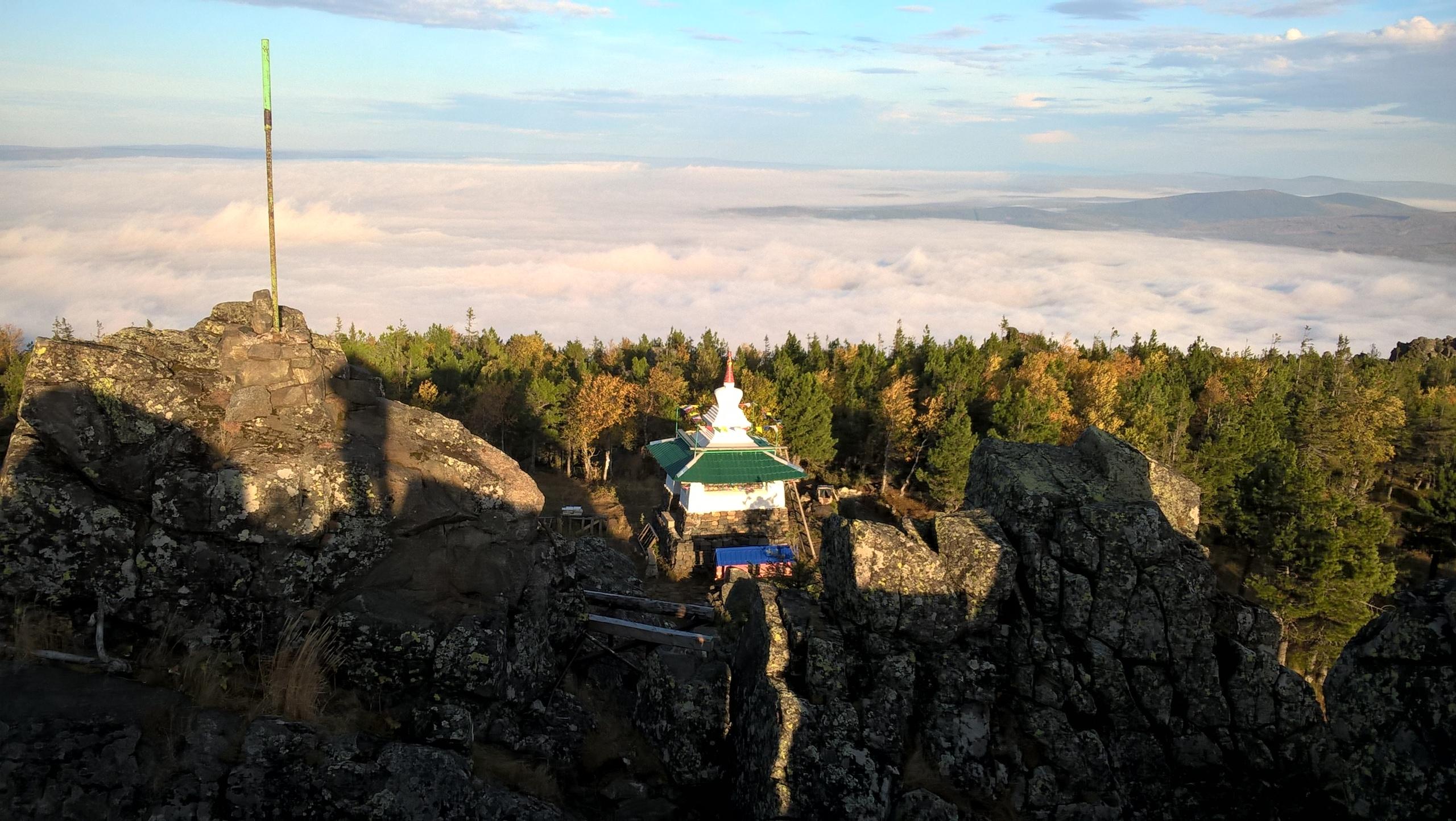 Ступа в Качканарском монастыре на Урале
