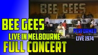 BEE GEES  Full Concert, LIVE in AUSTRALIA - Melbourne 1974 - Upscale FULL-HD 1080p