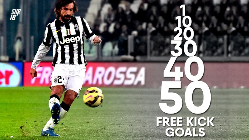 ANDREA PIRLO 1st 10th 20th 30th 40th 50th Free Kick GOAL in his Career
