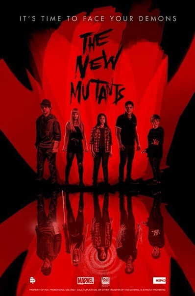 Арт-постеры «Новых мутантов» Релиз пока ожидается в августе, но вы же все понимаете.