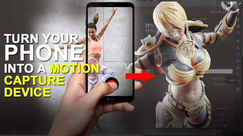 Use your smart phone for motion capture using this tool