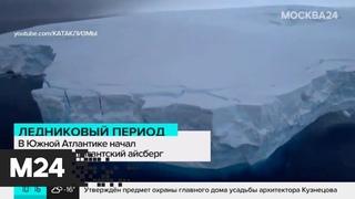 Гигантский айсберг начал разрушаться в Южной Атлантике - Москва 24