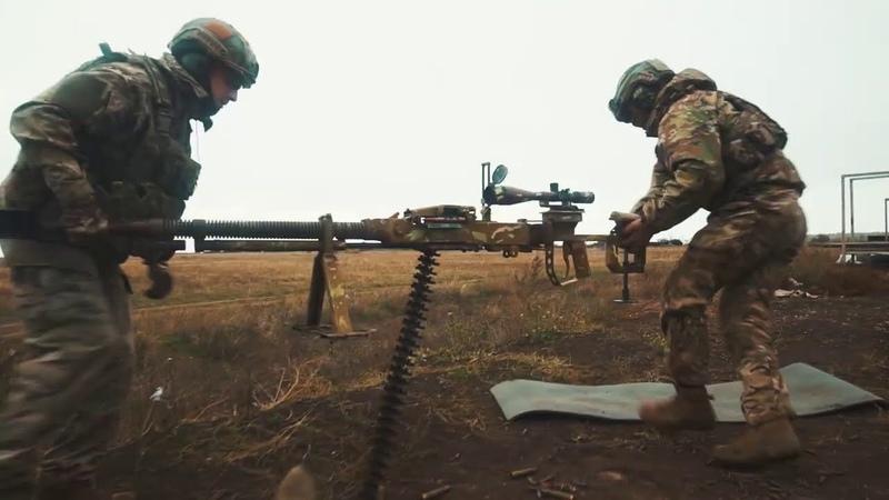 Взвод в обороні як бійці Азову відбивали умовний танковий прорив