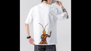Хлопковая футболка iidossan, мужская летняя футболка с принтом pokemon, однотонная, простая, уличная одежда, прямая поставка
