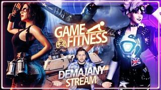 💪Game Fitness #3  🔊 Overwatch, Fortnite, WarThunder ! Играем и качаемся!
