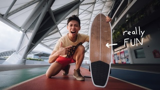30 year old trying a SURFSKATE for the first time