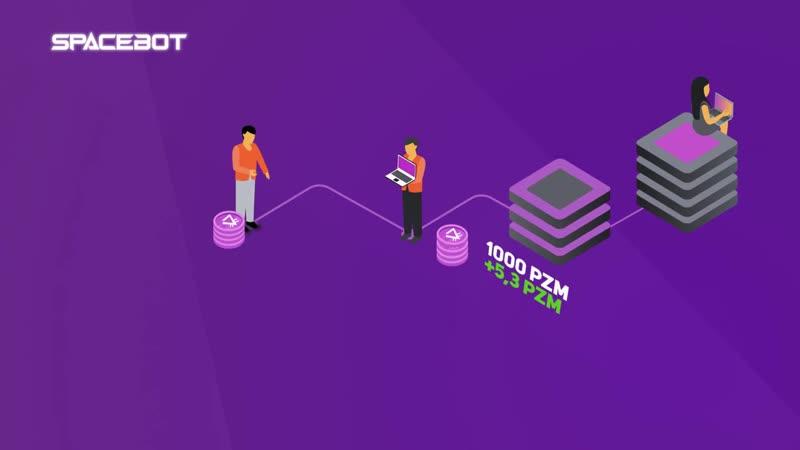 SPACE BOT - бизнес в телефоне. Добывает криптовалюту PRIZM BIP BTT.mp4