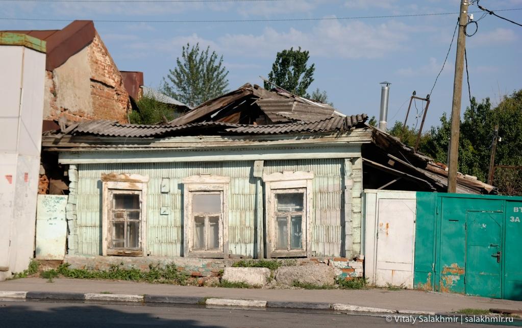 Разрушенные дома в центре Саратова, 2020
