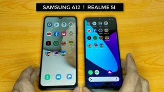 SPEED & CAMERA TEST SAMSUNG A12 VS REALME 5I