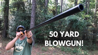 Shooting a Blowgun out to 50 Yards!