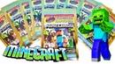 MINECARDS Распаковка и обзор коллекции игровых карточек по игре MINECRAFT 2020 Surprise unboxing