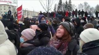 Воины света - 2021 Митинги в России за свободу навального