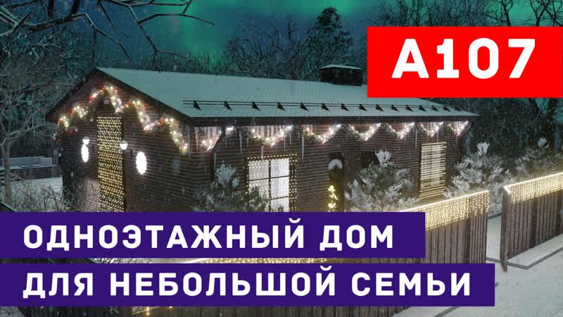 Проект одноэтажного дома для небольшой семьи | christmas edition + стоимость строительства