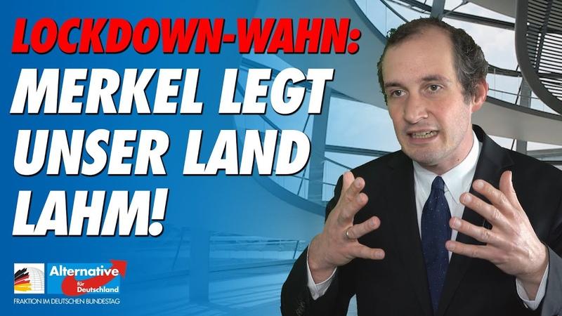 Lockdown Wahn Merkel legt unser Land lahm Norbert Kleinwächter AfD