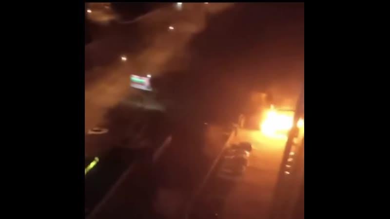 В Улан-Удэ ночью горела шиномонтажка