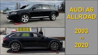 Audi A6 Allroad  -  2003 vs 2020  -  C5 vs C8  -  4x4 tests on rollers