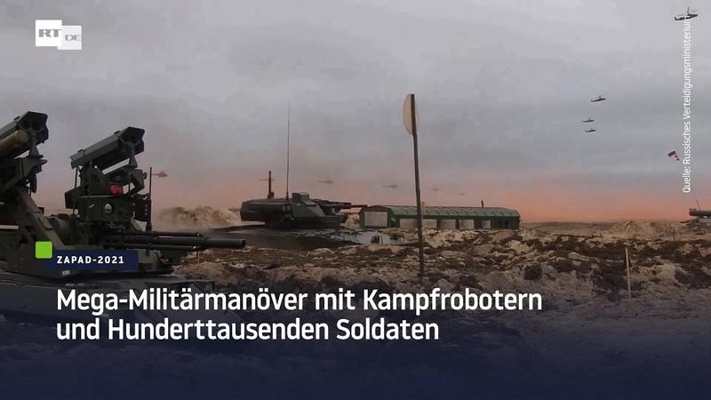Kampfroboter und Hunderttausende Soldaten Gemeinsames Militärmanöver von Russland und Weißrussland
