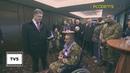 Пьяный президент Украины Пётр Порошенко подарил мяч безногому инвалиду АТО ШОК!
