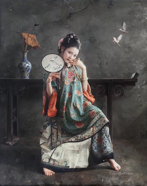 Фантазии и реалии художника Wang Ming Yue, Китай. Картины отличаются классической элегантностью и особой метафоричностью: мир на картинах как бонсаи: красив, но нереален. Женщина сравнивается с