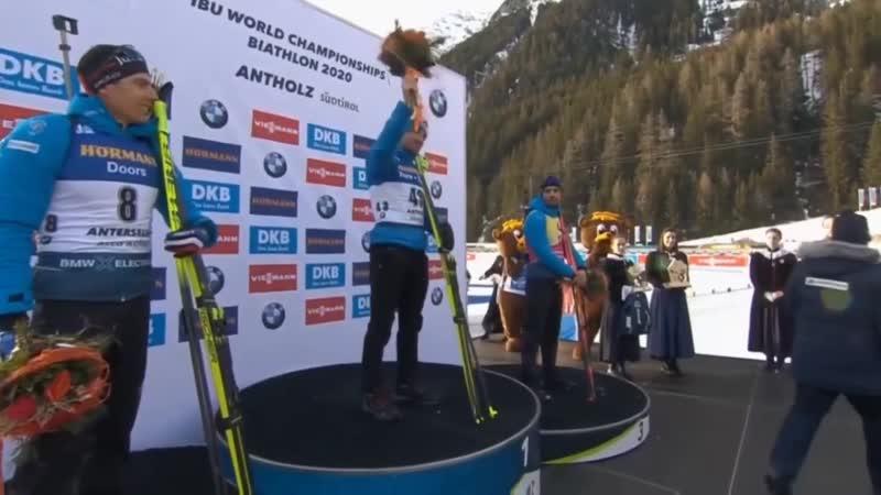 Российский биатлонист выиграл спринтерскую гонку Чемпионата мира 2020