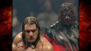 Kane w/ Paul Bearer vs Triple H w/ The Faction & The Big Show No DQ Handicap Match 2/14/00