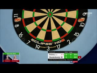 Chris Dobey vs Ron Meulenkamp (PDC World Darts Championship 2020 / Round 2)