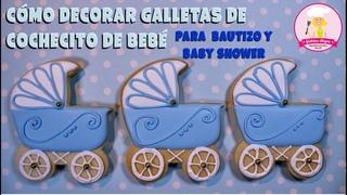 CARRITO DE BEBÉ 👶🏻| BAUTIZO Y BABY SHOWER | ROYAL ICING | GALLETAS ALEGRA