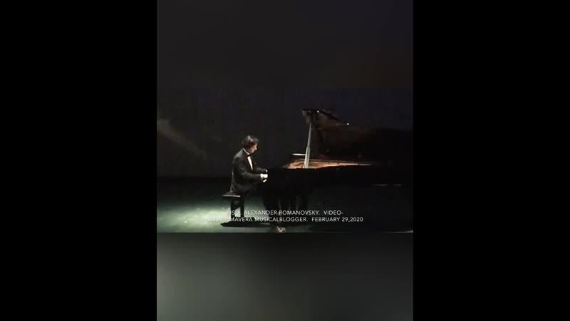 Alexander Romanovsky Александр Романовский Bis No 1 February 29 2020 ✨1 🎼F Chopin