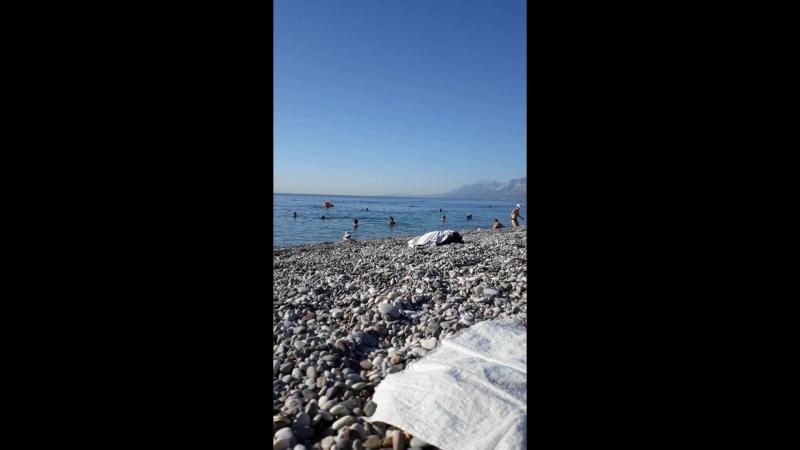 Konyaaltı plajında Ruslar