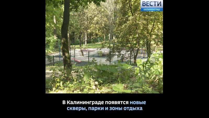 В Калининграде появятся новые скверы парки и зоны отдыха