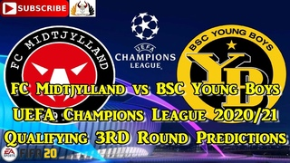 FC Midtjylland vs BSC Young Boys | 2020-21 UEFA Champions League Qualifying 3rd Round | Predictions