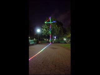 Лазерная_проекция,_управляемая_с_дрона
