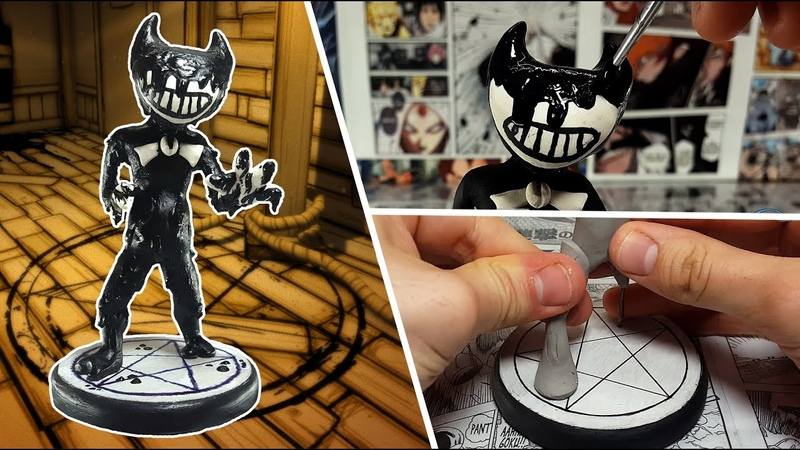 How to make INK BENDY from the game BATIM ⚫⚪⚫ Polymer Clay Tutorial ⚫⚪⚫
