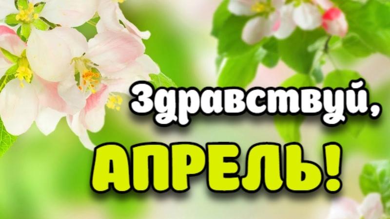 Здравствуй Апрель Поздравление с Первым Днем Апреля С 1 Апреля Открытка