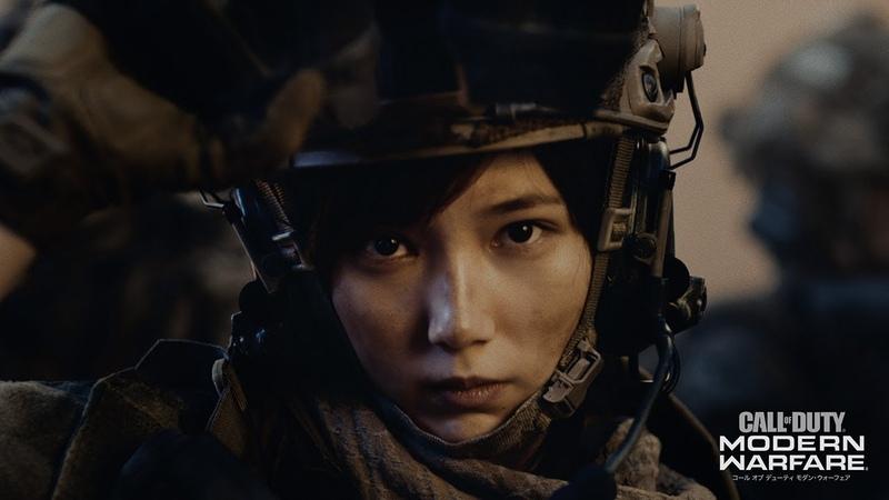 本田翼、美しい兵士姿を披露!ゲーム「コール オブ デューティ」CMに出演