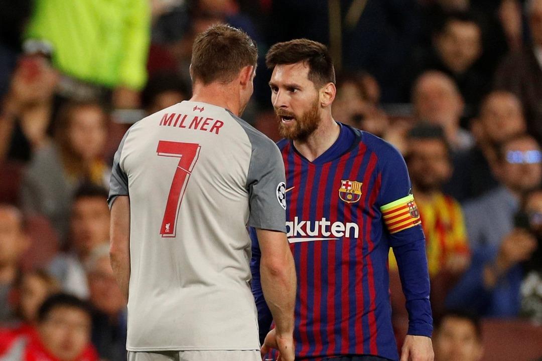 Барселона - Ливерпуль, 3:0. Лионель Месси и Джеймс Милнер