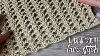 Да, это КРЮЧОК! Простой ажур: ТУНИССКОЕ вязание / Tunisian Crochet LACE Stitch