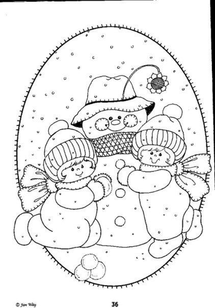 Открытка снеговики шаблон