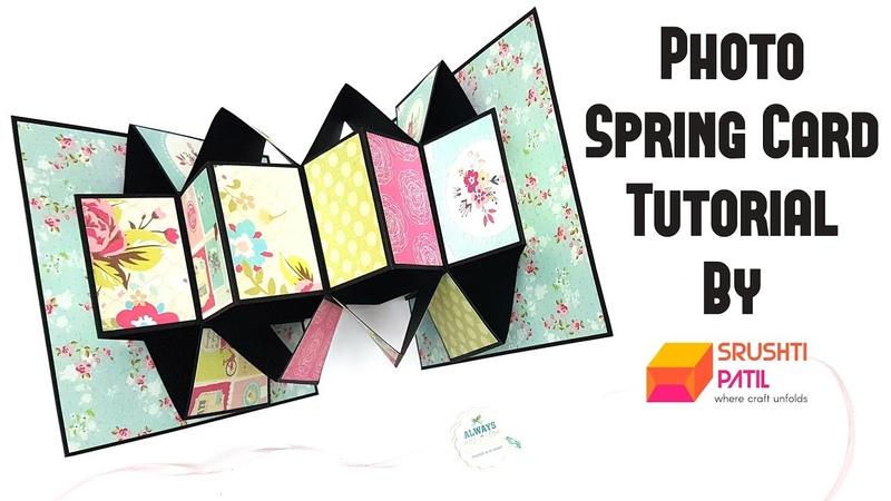 Photo Spring Card Tutorial by Srushti Patil | 5 Minutes Rakhi Card | Easy To Make Rakshabandhan Card