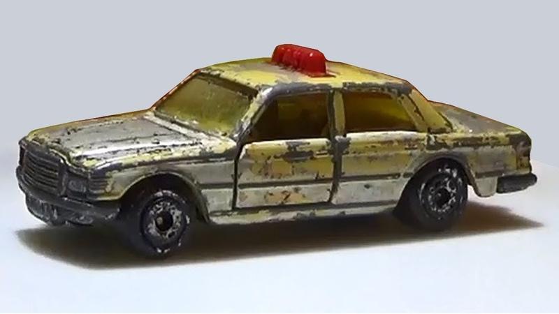 Matchbox restoration Mercedes 450 SEL nr 56 Taxi renowacja naprawa przeróbka toycar make over