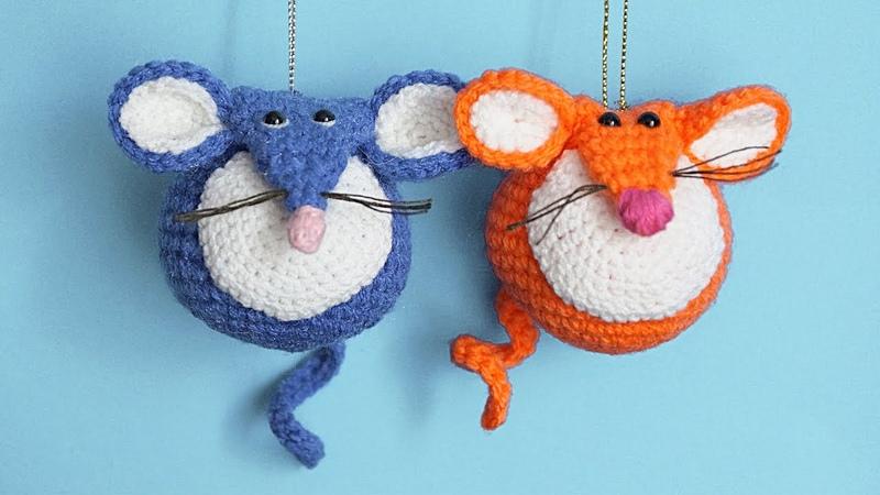 МК Мышешарик   Вязаная мышка крючком - подробное описание игрушки   Crochet Toy Mouse Tutorial