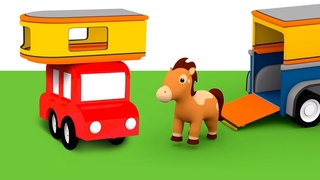 O cavalo não pode ficar na horta! Desenhos animados e histórias para crianças