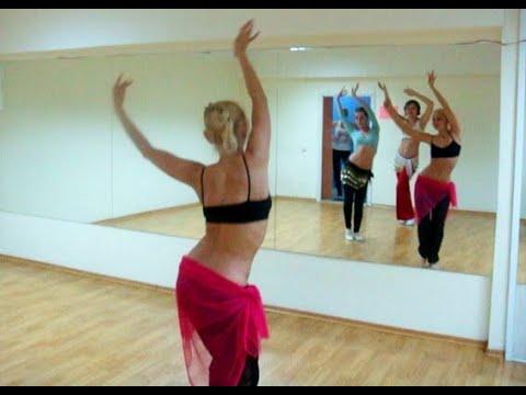разминка к уроку восточного танца обучение женщин танцу живота тренер Анна Корбан